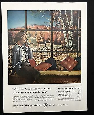 1961 Vintage Print Ad 1960s BELL TELEPHONE SYSTEM Communication