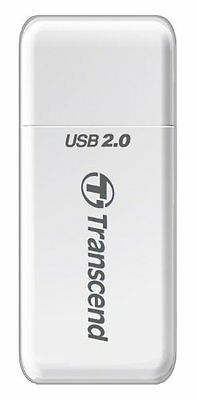 Transcend P5 Lector de tarjetas USB2.0 High Speed blanco