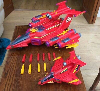 Vintage MANTA FORCE - RED VENOM AND RED VIPER Space ships - Bluebird Toys