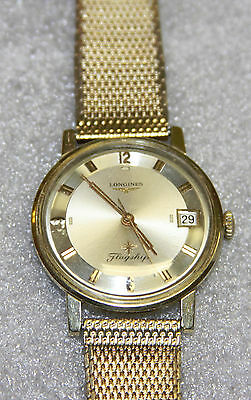 Stunning Gold Filled Longines Flagship Men's Calendar Wristwatch With EXTRA BAND