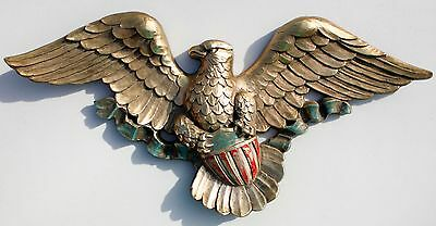 Vtg SYROCO Wall USA Federal Eagle 5172 Patriotic Mid-Century 1966 MCMLXVI
