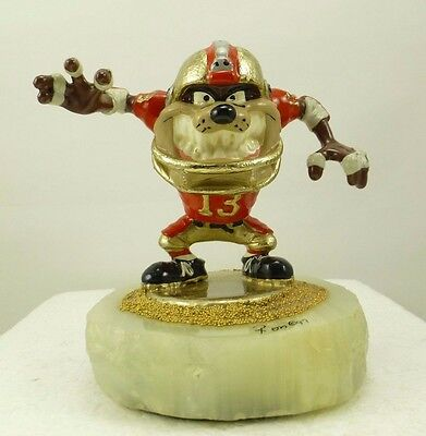 "Ron Lee-Sculpture ""Taz Playing Football"" Warner Brothers Limited Edition 58/750"