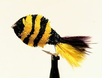 3 Bumble Deer Hair Fry Flies Barbed For Carp Pike Trout Fly Fishing #8,10,12
