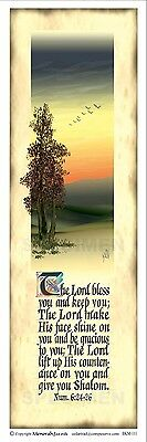 Menorah Bookmark - The Lord Bless You and Keep You .. - Pack of 10