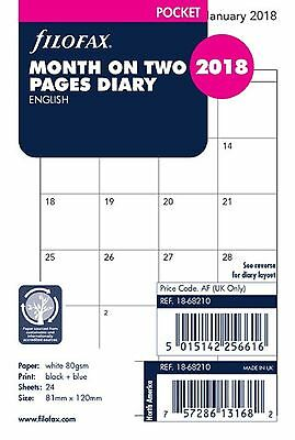 2018 FILOFAX Pocket Month on Two Pages Diary/Calendar - 18-68210