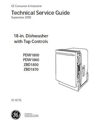 Repair Manual: General Electric Dishwashers (Choice of 1 manual, see below)