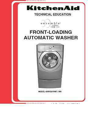 Repair Manual: KitchenAid Washers and Dryers (Choice of 1 manual, models below)