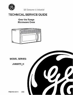 Repair Manual: GE Microwave Oven (Choice of 1 manual)