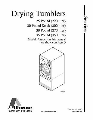 Repair Manual: Alliance/Huebsch/SpeedQueen Washers & Dryers (see Models below)