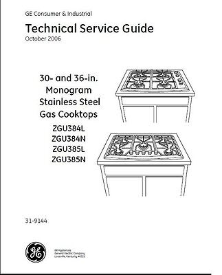 Repair Manual: GE Cooktops, Ranges, Ovens (Choice of 1 manual, see description)