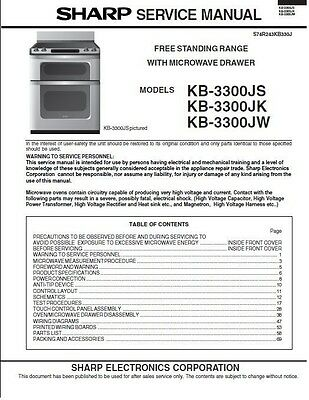 Repair Manual: Sharp Microwave Oven (Your choice of 1 manual, models below)