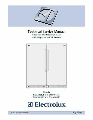 Repair Manual: Electrolux REFRIGERATORS (choice of 1)
