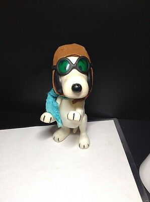 Vintage Snoopy Aviator Doll Red Baron Charlie Brown Peanuts Figure RARE!!!