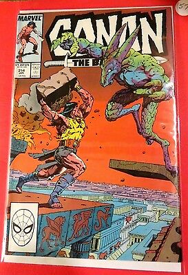 Conan The Barbarian #214 Marvel Comics Copper Age  CB2413