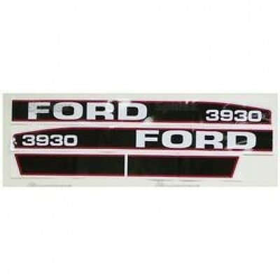 New Ford 3930 Red/Black Hood Decal Set