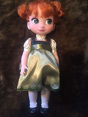 Ana Frozen Animator Doll, Used, Disney, Great Condition, Green, Girls