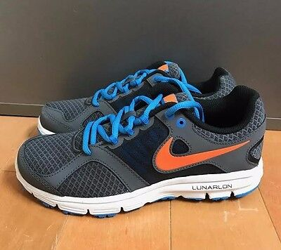 b7daff8f3406 Nike Lunar Forever 2 Lunar Run Grey Orange Running Gs Kids Sz 4-7Y 555022