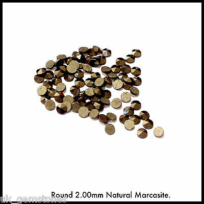 Natural Marcasite. Round/Square. Lots of Ten Pieces.