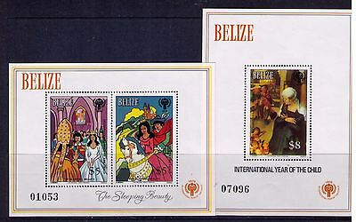 Belize , International Year of the Child S/S SC# 521-2 MNG as issued CV:$50