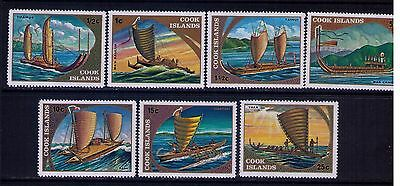 Cook Islands Stamps, Traditional Boats,SC # 257-63 Cpl.MNH Set