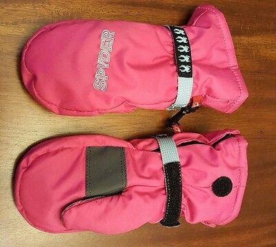 Spyder Kids Youth Pink Insulated Winter Snow Mittens Gloves Sz Large