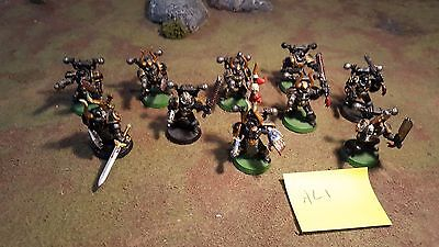 Warhammer 40k Chaos Space Marines Alpha Legion Tactical Squad X10, Painted