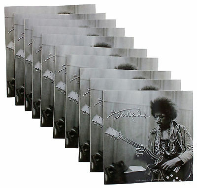 10 x Jimi Hendrix Logo Black White Vinyl Sticker's New Official Rock Band Merch