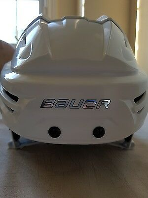 Like New Bauer Re-Akt Hockey Helmet White Men's Large