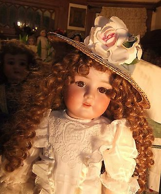 Beautiful Antique Bisque Doll in Compo Body 24 ''