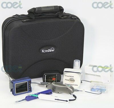 Komshine Fiber Optical Inspection Probe Kit with Display FTTH Toolkit Case