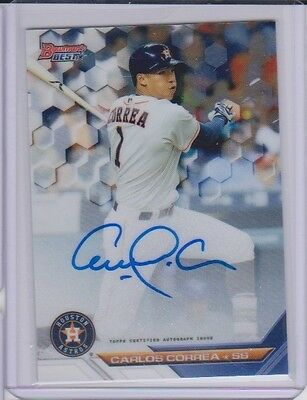 Carlos Correa 2016 Bowmans Best Astros On Card Auto