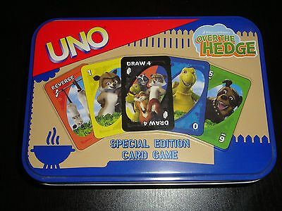 OVER THE HEDGE Special Edition Uno Card Game in DELUXE TIN Mattel Dreamworks