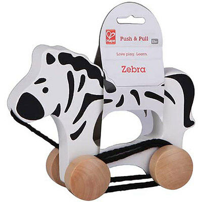 Brand New Hape Push and Pull Zebra Wooden Activity Toy baby infant Gift