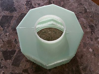 Antique/Vintage Ceiling Light/Jelly Mould/Great Condition/ Green/ Glass/Diffuser