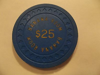 Banana Room $25 Casino Poker Chip Obsolete Authentic Genuine