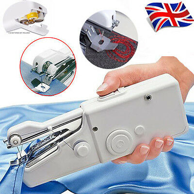 Portable Home Mini Travel Desk Sew Quick Hand-held Stitch Clothes Sewing Machine