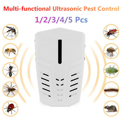 1-5 X Electronic Ultrasonic Pest Control Repeller Mosquito Insect Mice Repellent