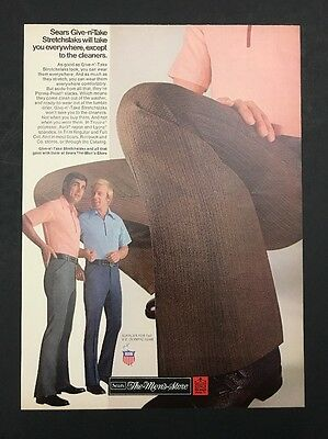 1972 Vintage Print Ad 1970s SEARS THE MENS STORE Fashion Style