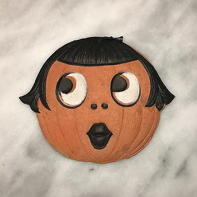 1920's VINTAGE HALLOWEEN GERMAN FLAPPER PUMPKIN - DIECUT