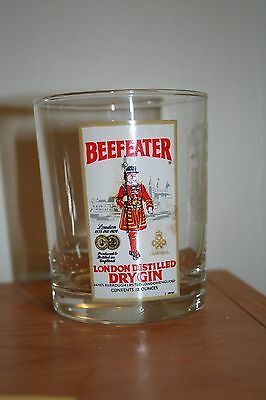 New Beefeater London Distilled Dry Gin High Ball Glass Excellent Condition