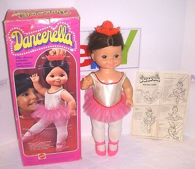 Vintage Dancerella Doll With Box - Mattel 1978 - Works & In Amazing Condition