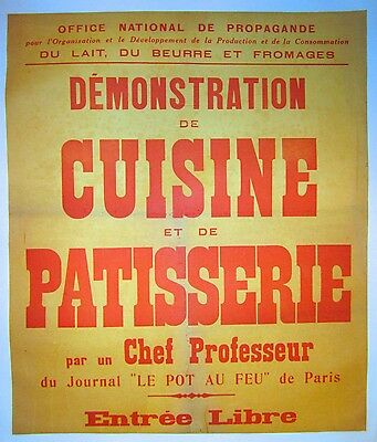 Vintage French Cuisine Poster on Linen
