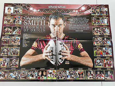 Large State of Origin 2 poster Cameron Smith 2003 - 2016 NRL Rugby League New