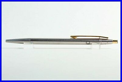 Steel & Gold MONTBLANC Ball Point Pen NOBLESSE / Push-Mechanism / Advert-Print