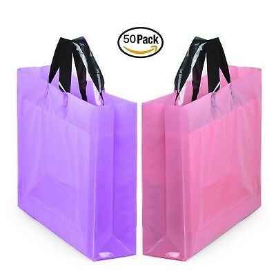 """YookeeHome 14"""" x 18"""" Large Merchandise Bags with Handles with Bottom Guss... New"""
