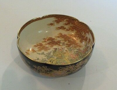 "Antique Japanese Satsuma Shimazu Pottery 6"" Bowl, Taisho Period (1912-1926)"