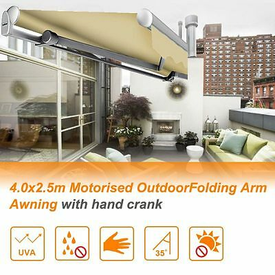 *NSW PICKUP* Outdoor Motorised Folding Arm Awning Sun Shade 3M / 4M x 2.5M