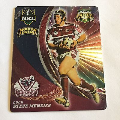NRL Tazo Footy Legends Manly Sea Eagles Steve Menzies