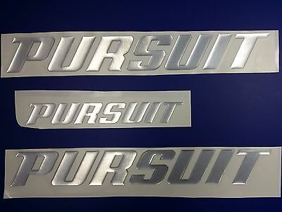 "PURSUIT boat Emblem 13"" Stickers Set - Adesivi Barca"