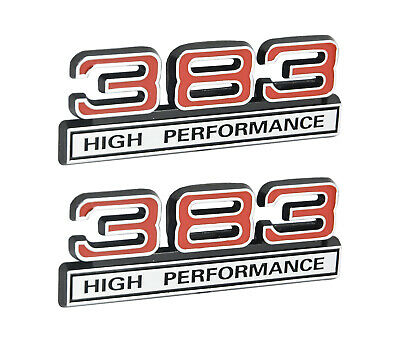 383 stroker 62l engine emblems badges white w chrome trim 4 383 high performance 62l engine emblems badges in chrome red 4 long publicscrutiny Image collections